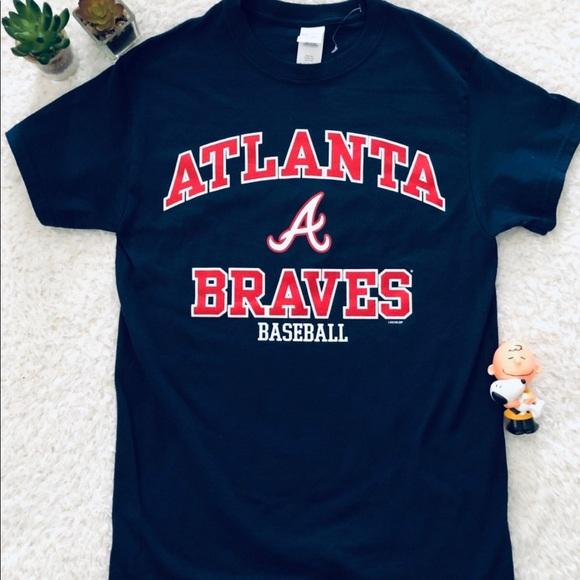 Blue Atlanta Braves Shirt Men Small New